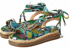 Newchic Women Large Size Opened Toe Strappy Platform Casual Espadrilles Sandals