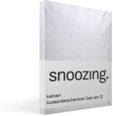 Snoozing Kussenbeschermer (Set Van 2) - Buitenkant: 100% Katoen, Binnenkant: 100% Polyester - 60x70 - Wit