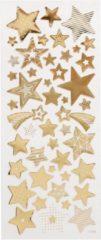 Merkloos / Sans marque Sterren stickervel met 52 gouden stickers