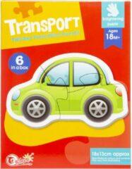 Lg-imports Puzzel Auto 18 X 13 Cm Karton Rood/groen 6-delig