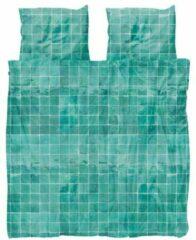Snurk Tiles Emerald groen dekbedovertrek