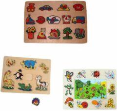 Playwood Knop puzzel telefoon-wilde dieren-insect u krijgt 3 assorti geleverd