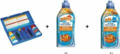 Zwembad pH-kit: BSI Test kit + pH up liquid 1L + pH down liquid 1L