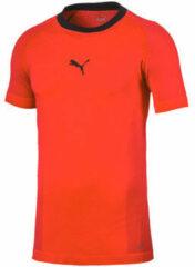Oranje T-shirt Korte Mouw Puma evoTRG evoKNIT Tee