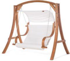 Beliani APRILIA - Schommelbank - Donkere houtkleur - Larikshout