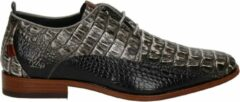 Donkergrijze Rehab GREG CROCO VNZ Formal Shoe Men