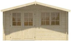 Merkloos / Sans marque Blokhut - Tuinhuis - Home Office 44mm Inge (incl. dakshingles recht)
