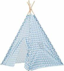 Lucy's Living Luxe Tipi Tent TRIANGL blauw - 120 x 120 x 150 cm - wigwam speeltent - tipi tent kinderen - speeltent kinderen - jongens en meisjes - speelgoed