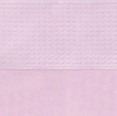 Bruine Jollein Waffle - Wieglaken 75x100 cm - Roze