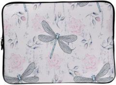 Misstella Laptop Sleeve met libellen tot 13 inch – Roze
