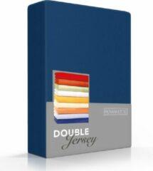 Marineblauwe Dubbel Jersy Hoogwaardige Dubbel Jersey Hoeslaken Lits-Jumeaux Navy | 180x200/210/220 + 200x200 | Zacht En Dik | Rondom Elastiek