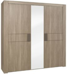 Gamillo Furniture Kledingkast Moka 222 cm breed in houtskool eiken
