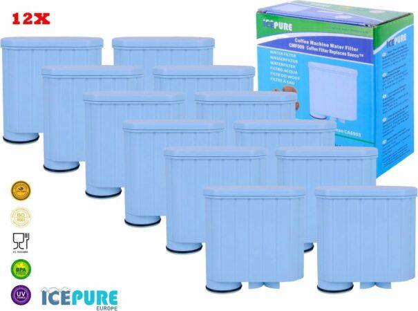 Afbeelding van Lichtblauwe 12x Saeco / Philips AquaClean CA6903 - Waterfilter van Icepure
