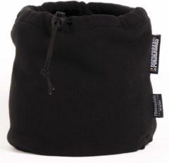 Poederbaas colsjaal One Size - zwart, fleece, zachte col van fleece, warme col voor wintersport, col voor skivakantie