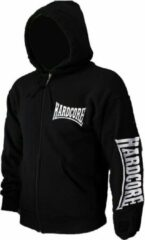 Hardcore Hardcore Logo Vest Hoodie met Rits en Capuchon Geborduurd Zwart N.v.t. Unisex Sweatvest Maat L