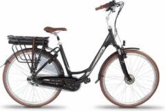 Vogue Basic Elektrische Stadsfiets 28 Inch 49 Cm Dames 7v Rollerbrake Matzwart/bruin