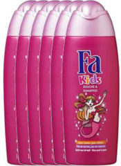 FA Kids Douche & Shampoo Mermaid - 6x 250ml multiverpakking