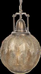 Clayre & Eef Hanglamp 6LMP616 45*45*70/175 cm E27/max 1*40W - Goudkleurig Ijzer / glas Hanglamp Eettafel Hanglampen Eetkamer