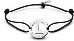 Zilveren Key Moments 8KM-A00012 - Armband met stalen letter L en sleutel - one-size - zilverkleurig