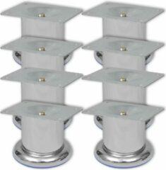 Zilveren VidaXL Bankpoten rond 8 st 60 mm chroom