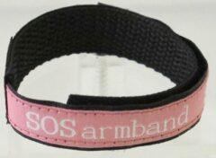 Uppi SOS klittenband bandje Roze met 2 beschrijfbare labels