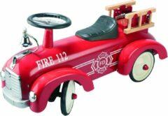 Goki Loopauto brandweerwagen rood