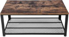 Plant&More - Salontafel - Hout met zwart onderstel - 106x60cm
