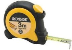 Ironside Rolbandmaat rubber ABS 3 meter x 16mm