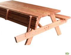 Bruine Woodvision -Picknicktafel Ellis - Lariks/Douglas - 180x75 cm