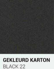 Zwarte Gekleurdkarton notrakkarton Gekleurd karton black 22 30,5x30,5 cm 270 gr.