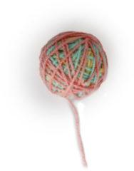 All For Paws Knotty Habit Yarn Ball - Kattenspeelgoed - 10x5x5 cm Lichtroze