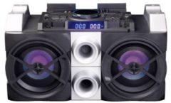 Lenco PMX-150 - Party Speaker Bluetooth met 150W vermogen en DJ-mixer - Zwart
