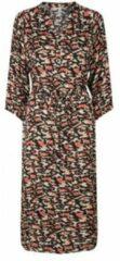 Soyaconcept jurk met all over print en ceintuur multicolor