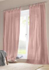 Hessnatur Vorhang mit Schlaufen – rosa – Größe 225x135cm