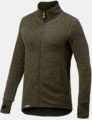 Woolpower - Full Zip Jacket 400 - Wollen vest maat M, zwart/olijfgroen