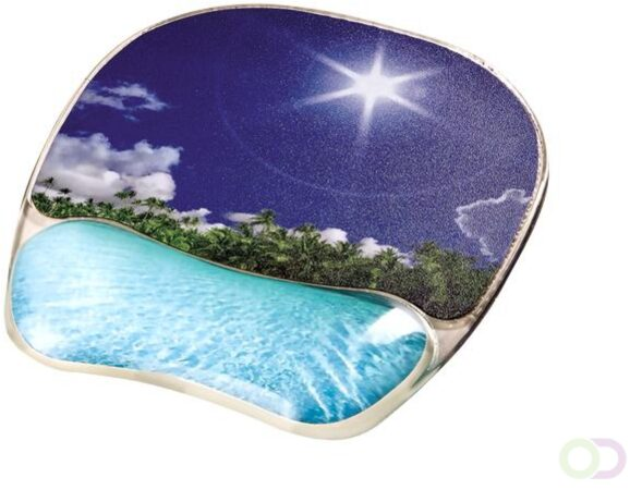 Afbeelding van Fellowes Photo Gel muismat met polssteun, tropisch strand