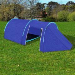 Marineblauwe Waterbestendige campingtent voor 4 personen Marineblauw/lichtblauw