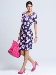Rosa Kleid Alba Moda Marineblau/Pink
