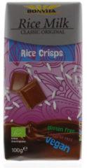 BonVita Rijstmelkchocolade rice crisps (1 Reep van 100 gr)