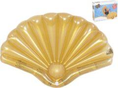 Goudkleurige Gerimport Luchtbed Schelp 108 X 70 Cm Polyester Goud