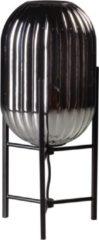 Gloeilicht- ETH ETH Tafellamp Glamm S 20cm smoke glass ribbel / zwart