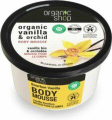 Organic Shop Organische Vanille & Orchideeën Lichaamsmousse Mousse Bourbon Vanille en Orchidee 250ml
