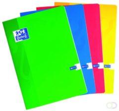 Oxford SCHOOL schrift geassorteerde kleuren formaat A4 120 bladzijden geruit 5 mm