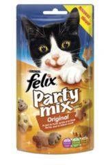 FELIX Party Mix Snacks - Original - Kattensnack - 8 x 60 gr