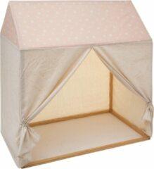 Atmosphera Tentdoek voor speeltent meisje - zonder frame - Kinderkamer - 116 x 126 - Zacht roze
