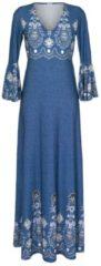 Strandkleid Alba Moda blau-druck