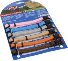 Donkergroene Trixie Puppy Halsband 22-35cm set fuchsia-legergroen-roze-donkergrijs-donkerblauw-turquoise 6st