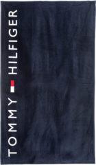 Blauwe Tommy Hilfiger Badlaken Logo