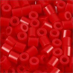 Nabbi Strijkkralen, afm 5x5 mm, gatgrootte 2,5 mm, rood (57), medium, 6000stuks