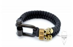 Bad-Ass Paracord Black Skulls - 19cm
